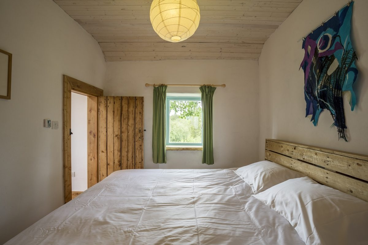 From the comfortable bed you have a great view of the birch woods