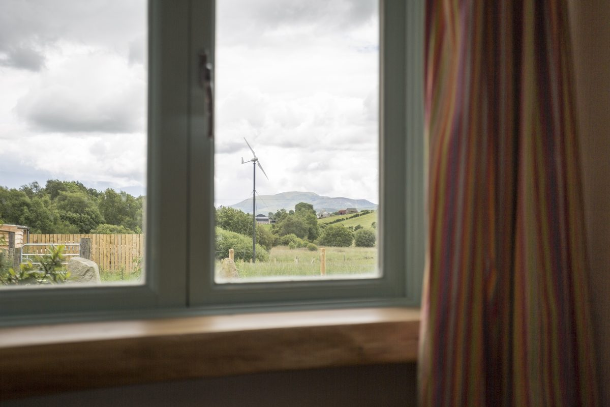 Our eco accommodation has excellent views of the Mourne Mountains