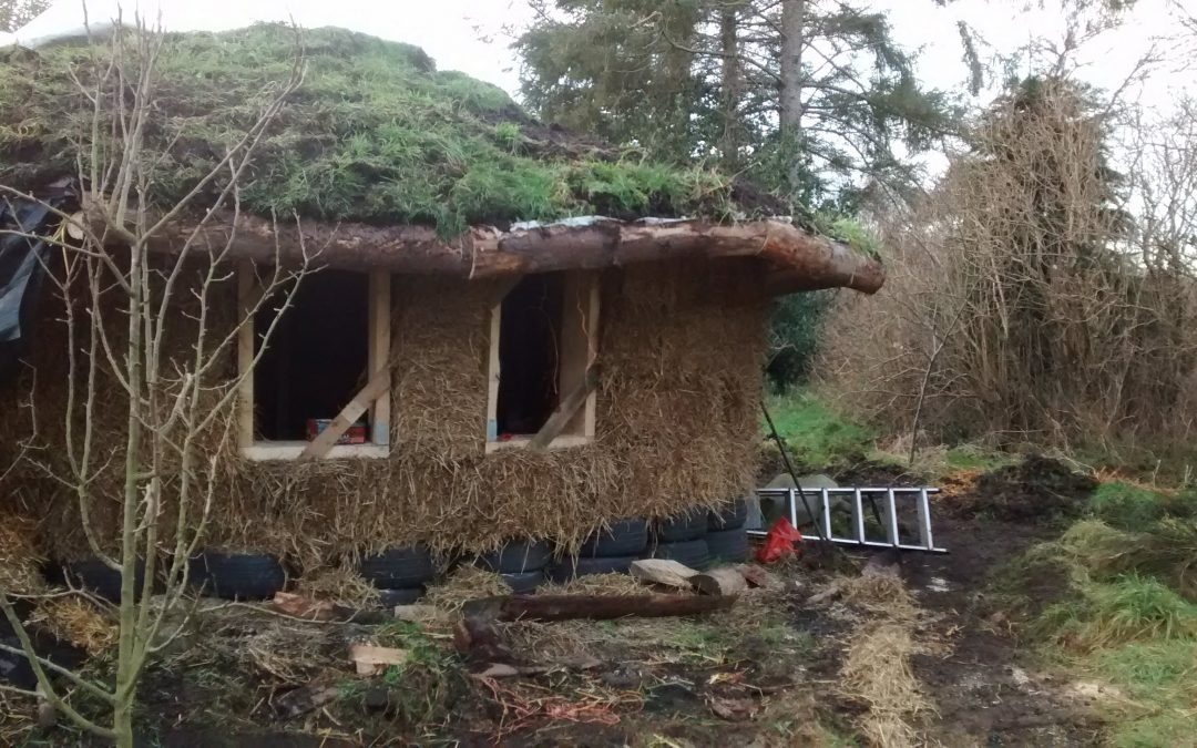 A strawbale barn